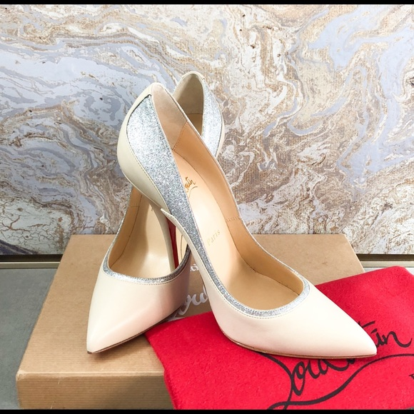 buy online 404cb 23bf8 Christian Louboutin Tucsy Silver Glitter pump